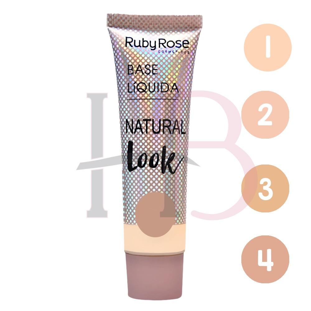Base Liquida Natural Look Nude Ruby Rose HB-80511