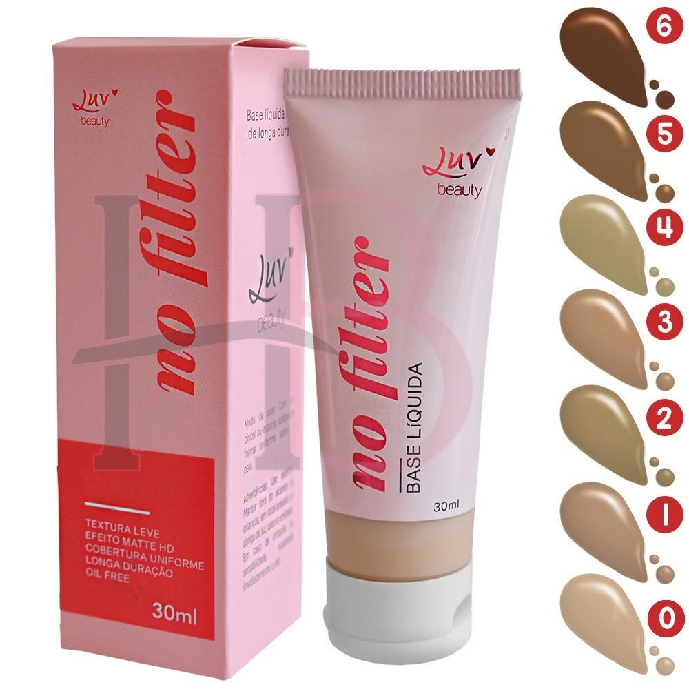 Base Líquida No Filter Luv Beauty 30 ml
