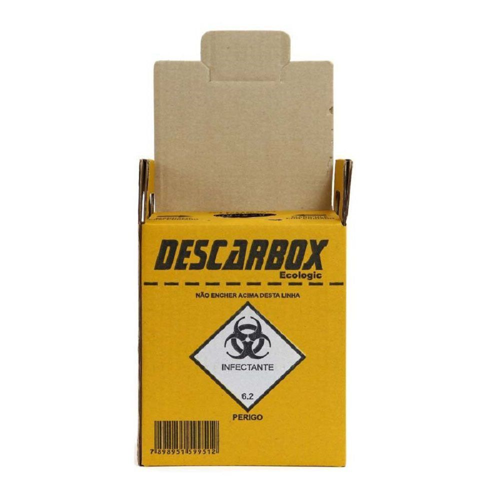 Caixa Coletora de Material Perfurante Descarbox - 3 Litros