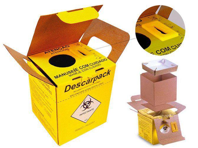 Caixa Coletora de Material Perfurante Descarpack - 1,5 Litros