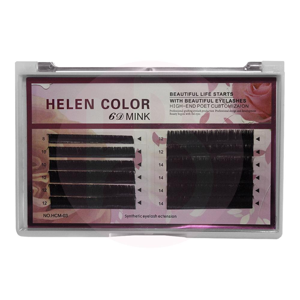 Cílios Auto Fan Helen Color 0.07D Mix