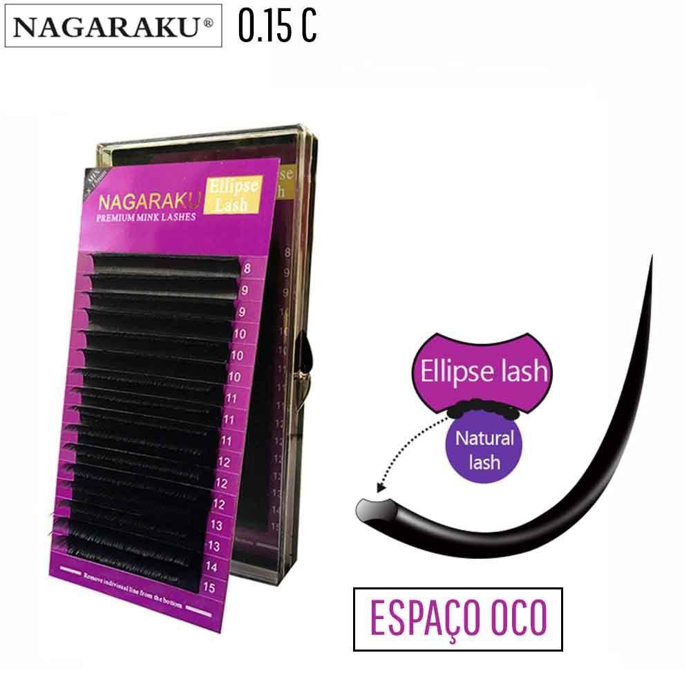 Cílios Elipse Nagaraku 0.15C Fio a Fio Mix 8 ao 15 mm
