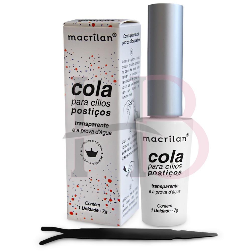 Cola para Cílios Postiços Macrilan Transparente 7g