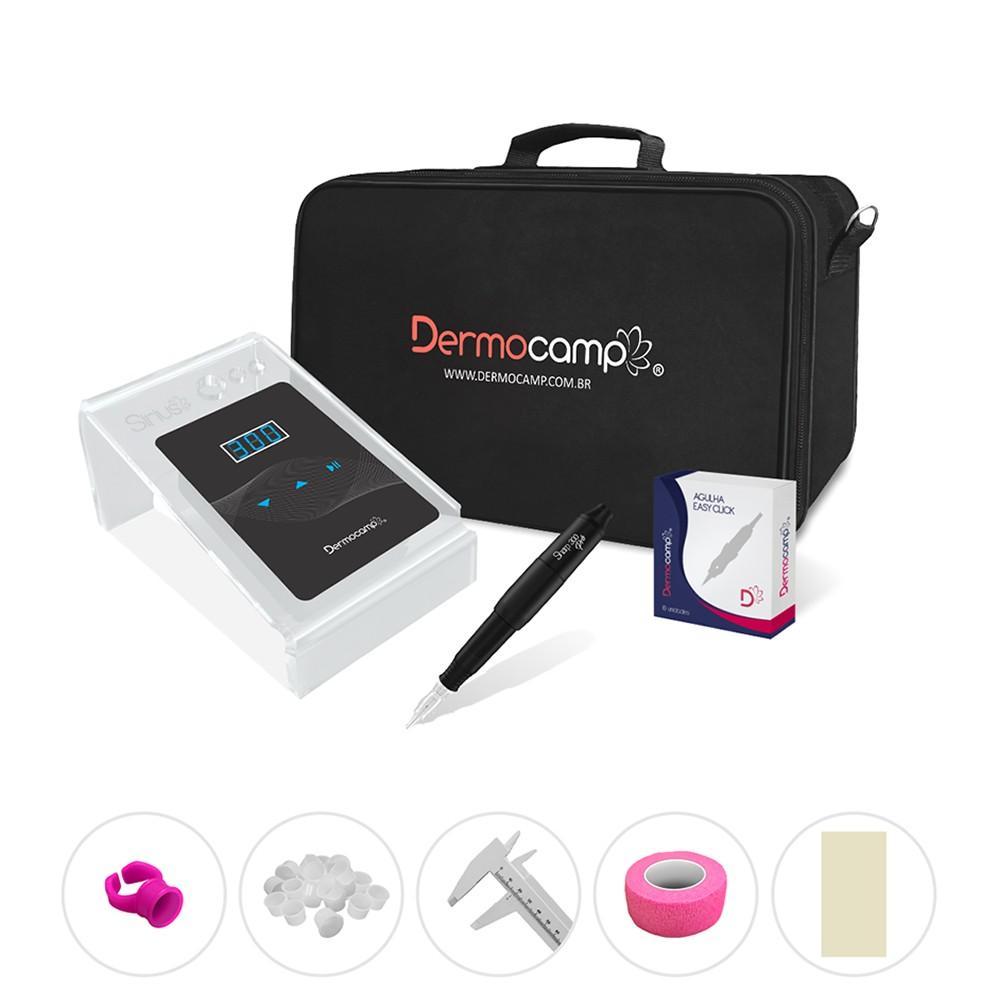 Combo Dermógrafo Sharp 300 Pro Preto - Sirius Dark