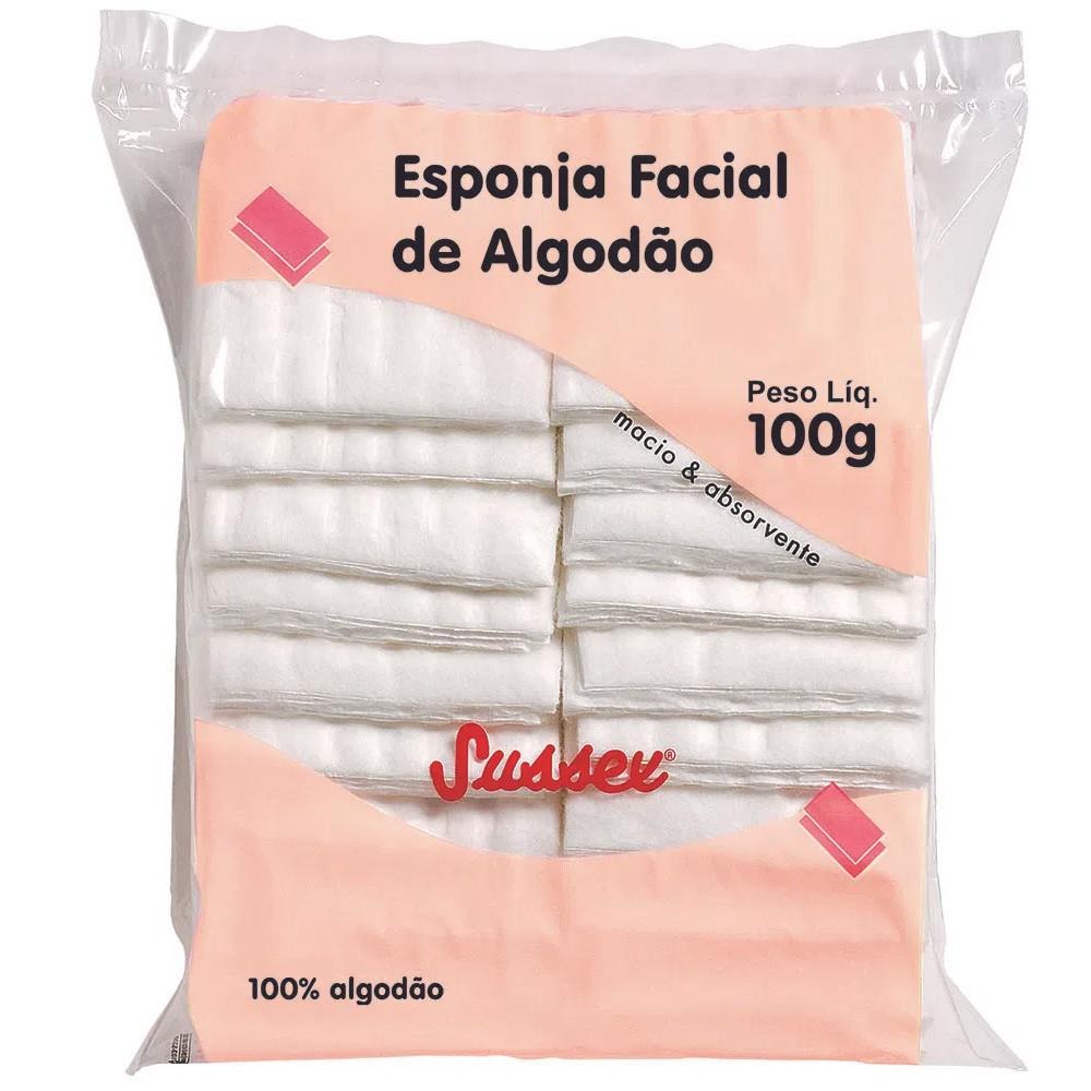 Esponja Facial De Algodão Sussex 100 g