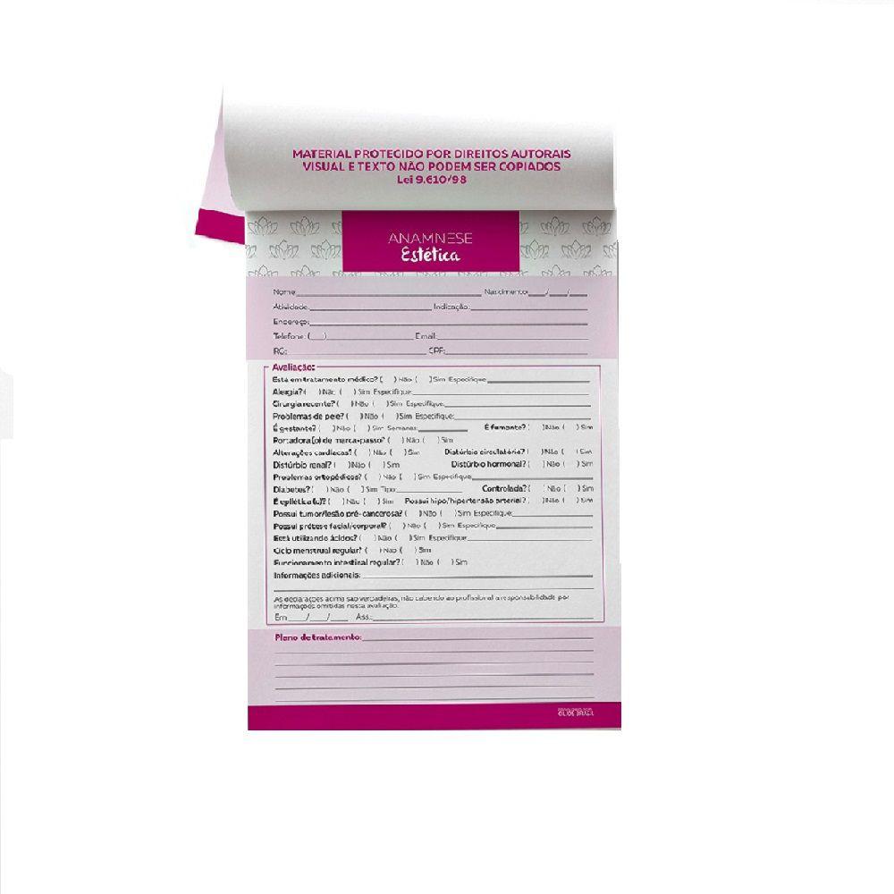 Ficha Anamnese para Micropigmentação com 100 Folhas