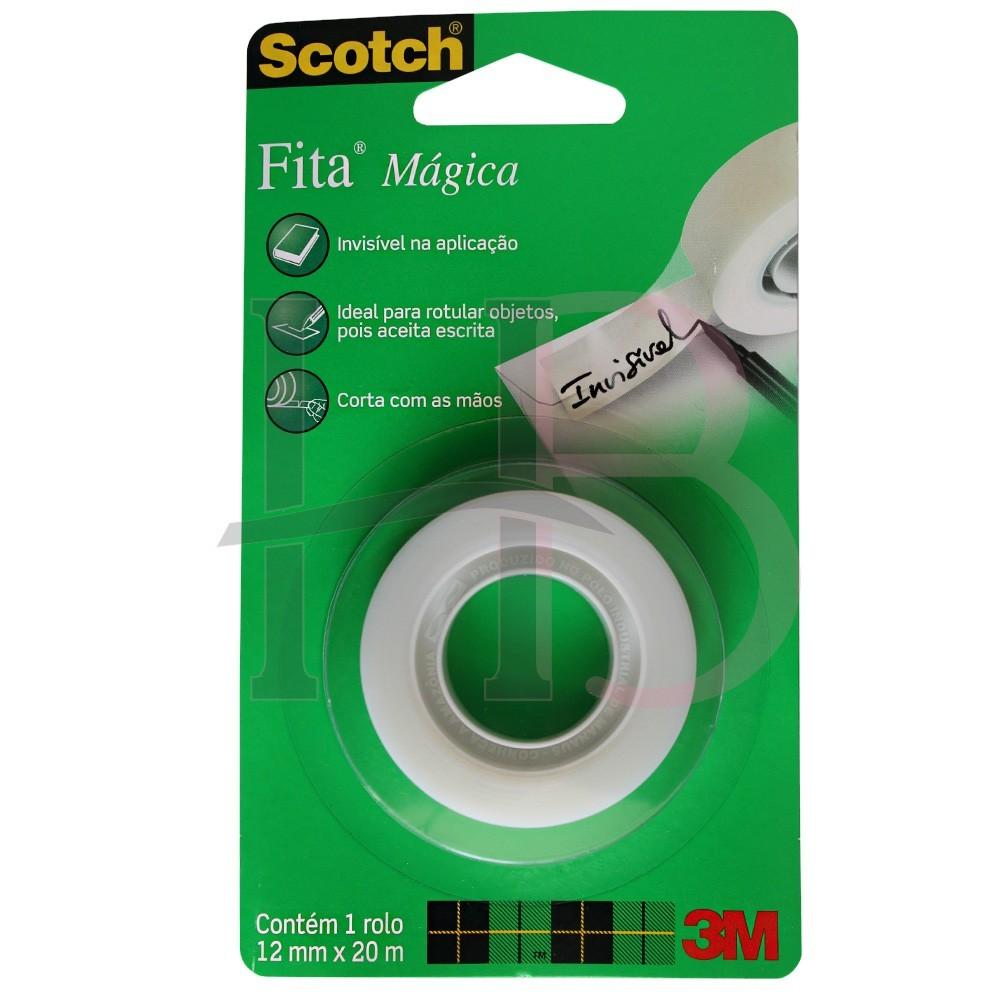 Fita Mágica Scotch - 12 mm x 20 m