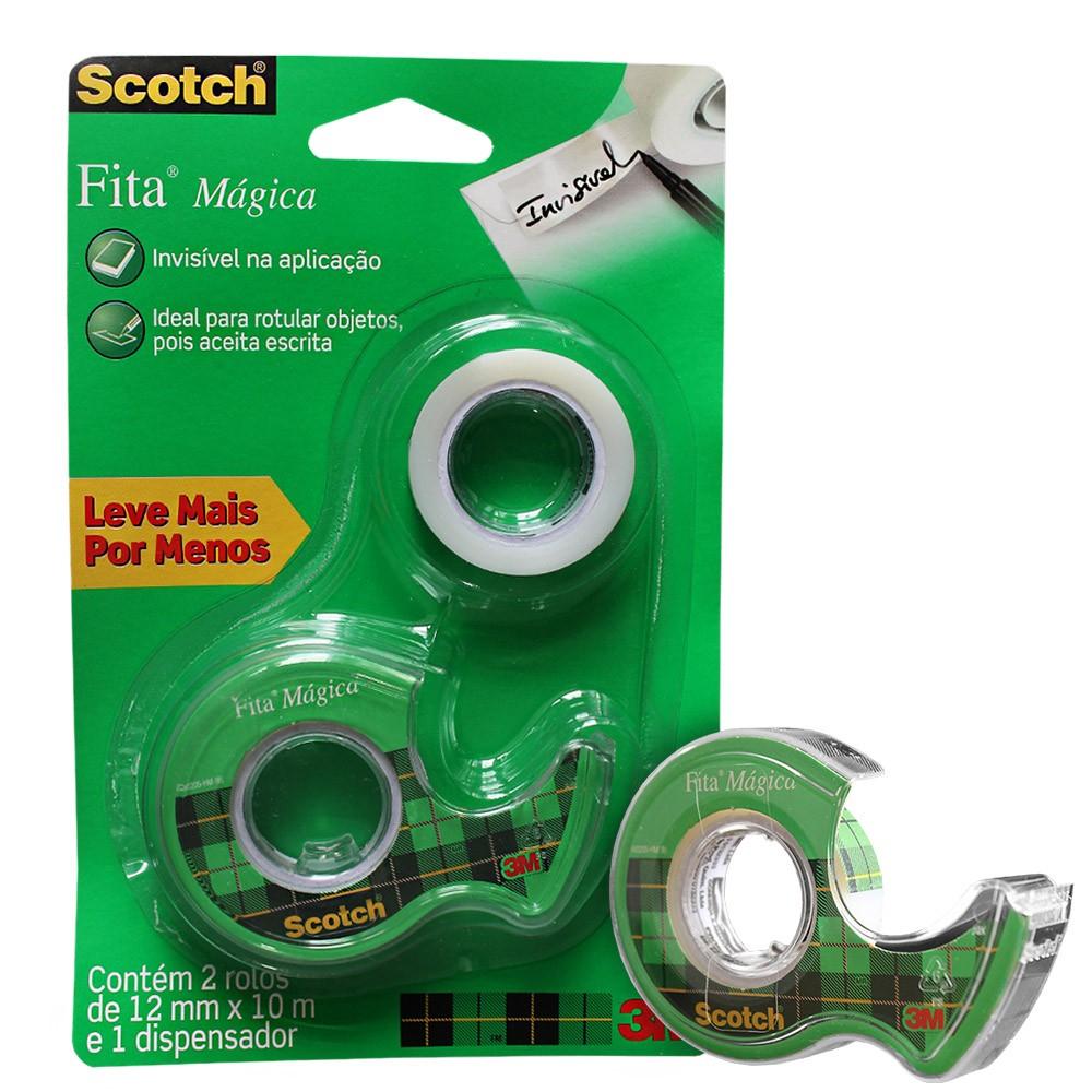 Fita Mágica Scotch 3M Com 2 Rolos - 12 mm x 10 m