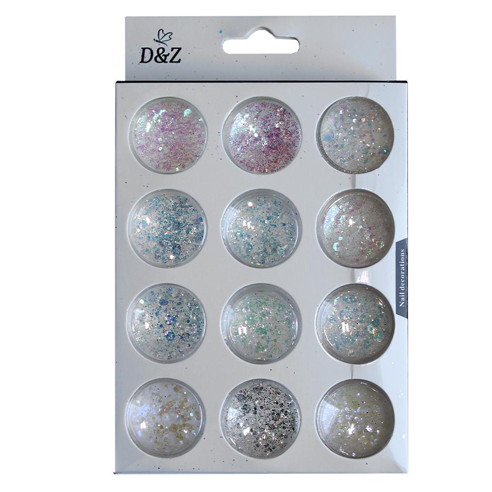 Glitter Flocado para Unhas - Kit c/ 12