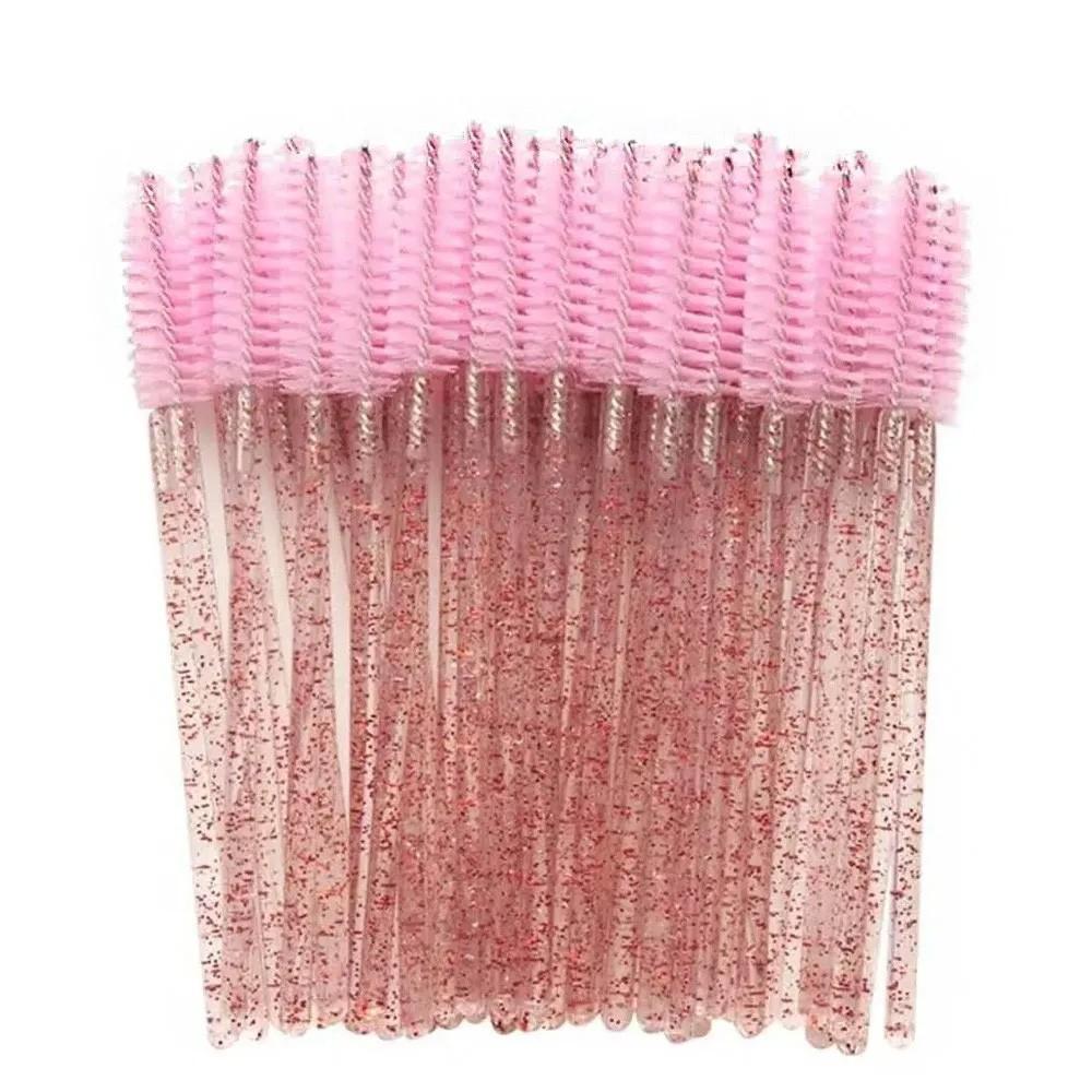 Kit 100 Escovinhas Glitter Para Cílios