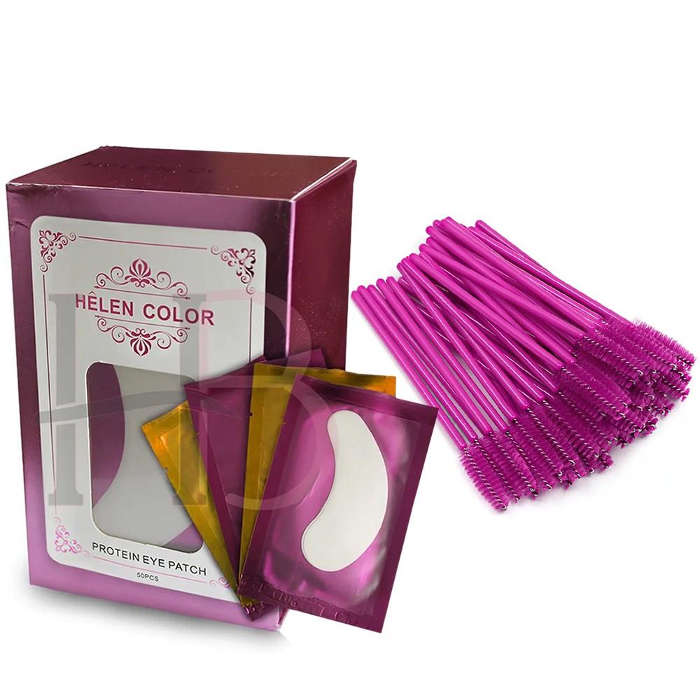 Kit 50 Protetores Helen Color + 50 Escovinhas