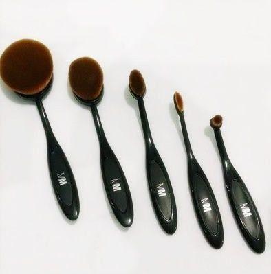 Kit 5 Pincéis para Maquiagem Oval - Magicmake