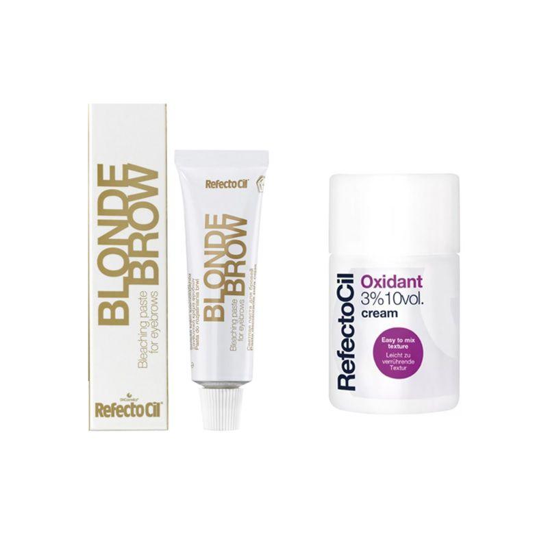 Kit Blond Brow Refectocil Descolorante e Clareador de Sobrancelhas + Ox Creme