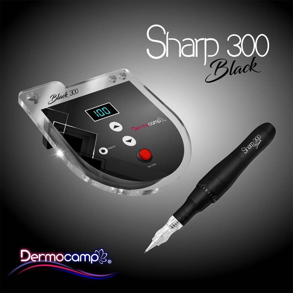 Combo Dermógrafo Sharp 300 Pro Black Dermocamp