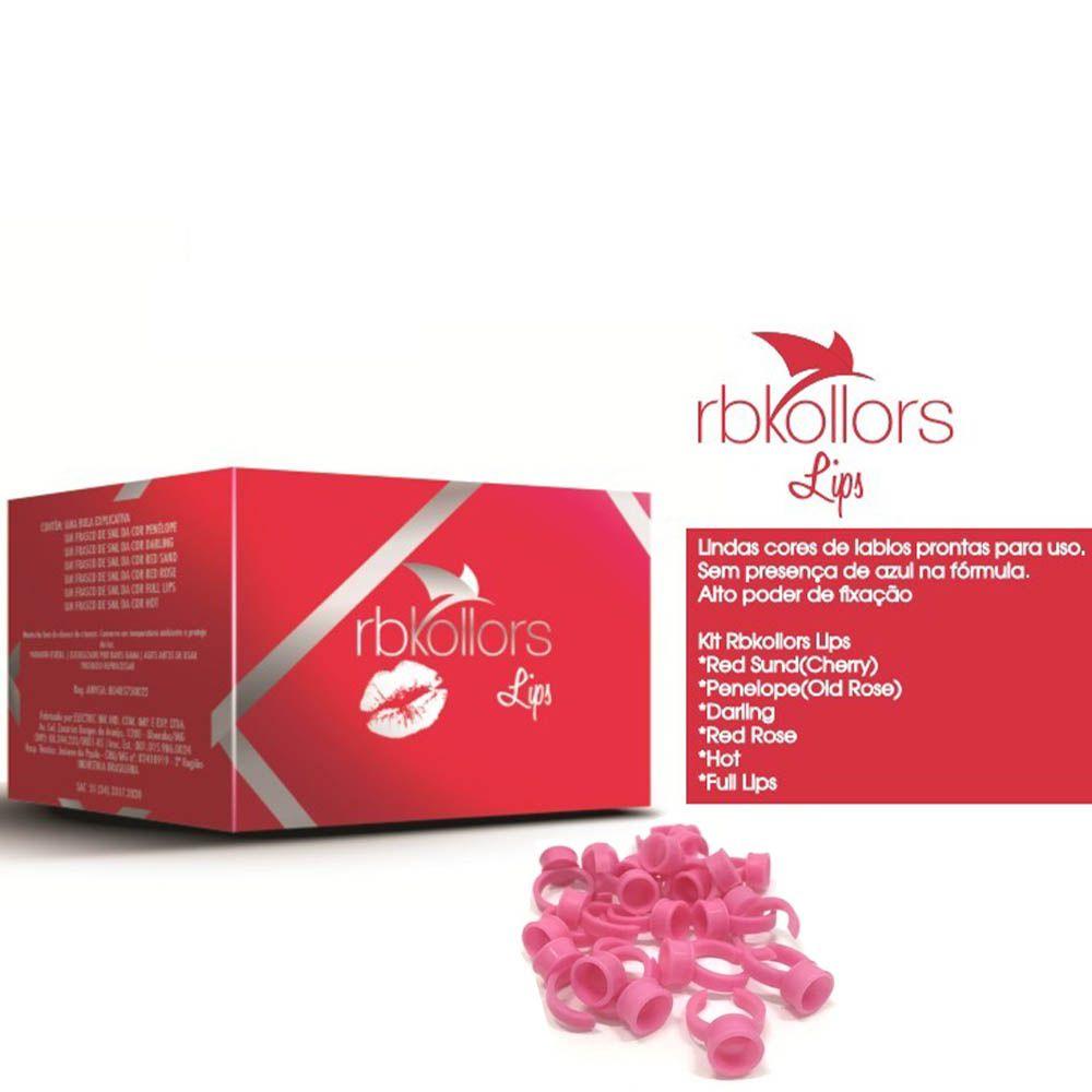 Kit Lips RB Kollors  - 6 Pigmentos para Lábios 5 ml