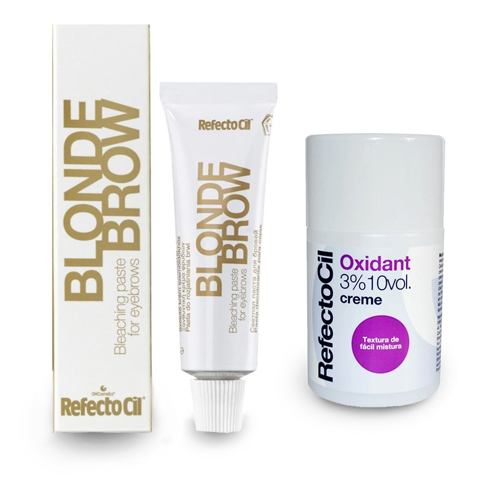 Kit Refectocil Descolorante Blond Brow de Sobrancelhas + Ox Creme