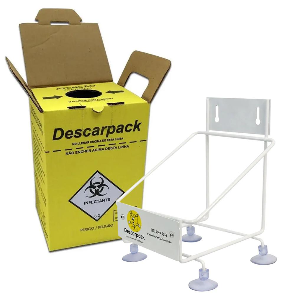 Suporte +  3 Caixas Coletoras 1,5 L Descarpack
