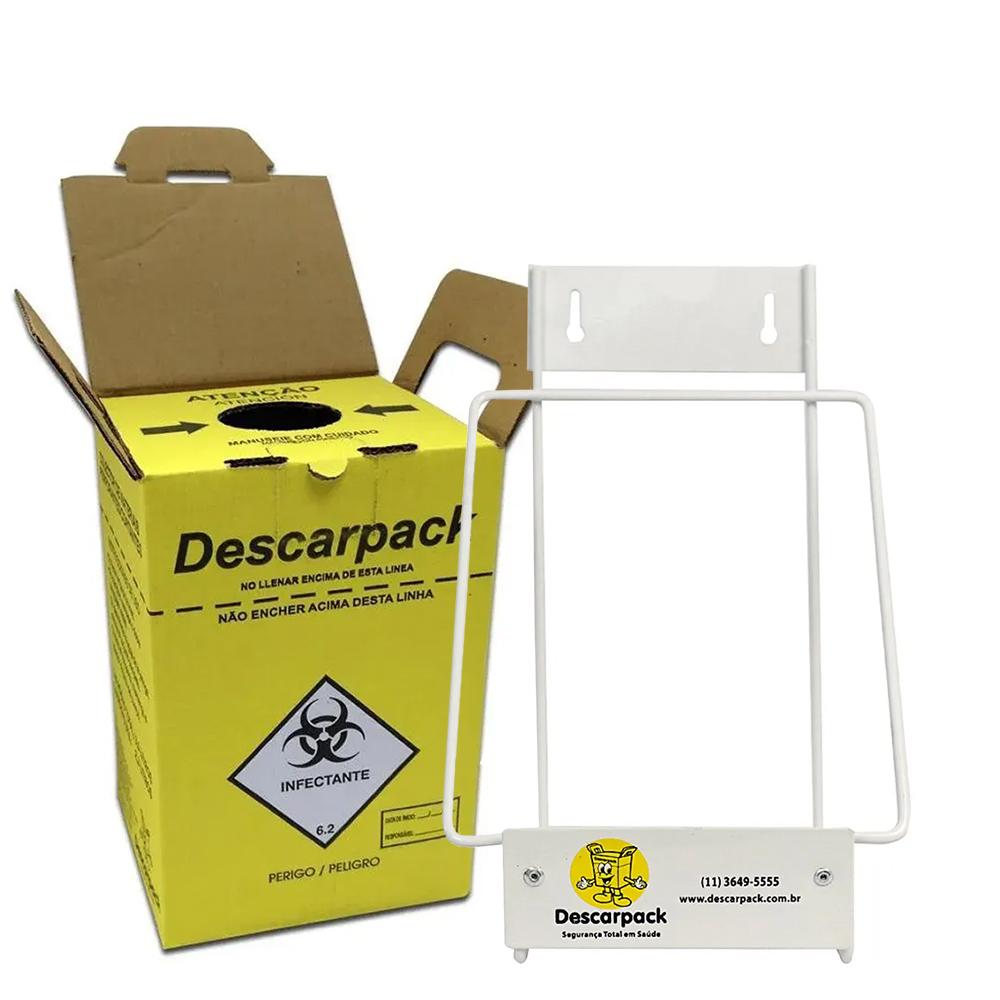 Suporte +  3 Caixas Coletoras 3 L Descarpack