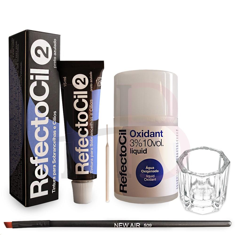 Kit Refectocil Preto Azulado + Ox + Acessórios