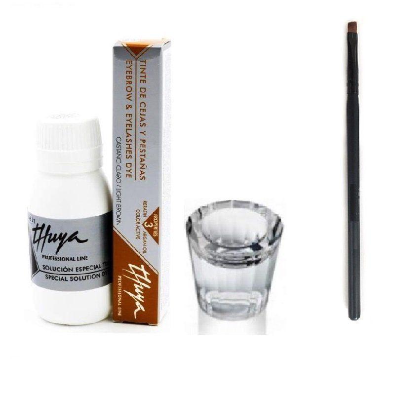 Kit Tintura Thuya Castanho Claro com Oxidante + Dappen e Aplicador