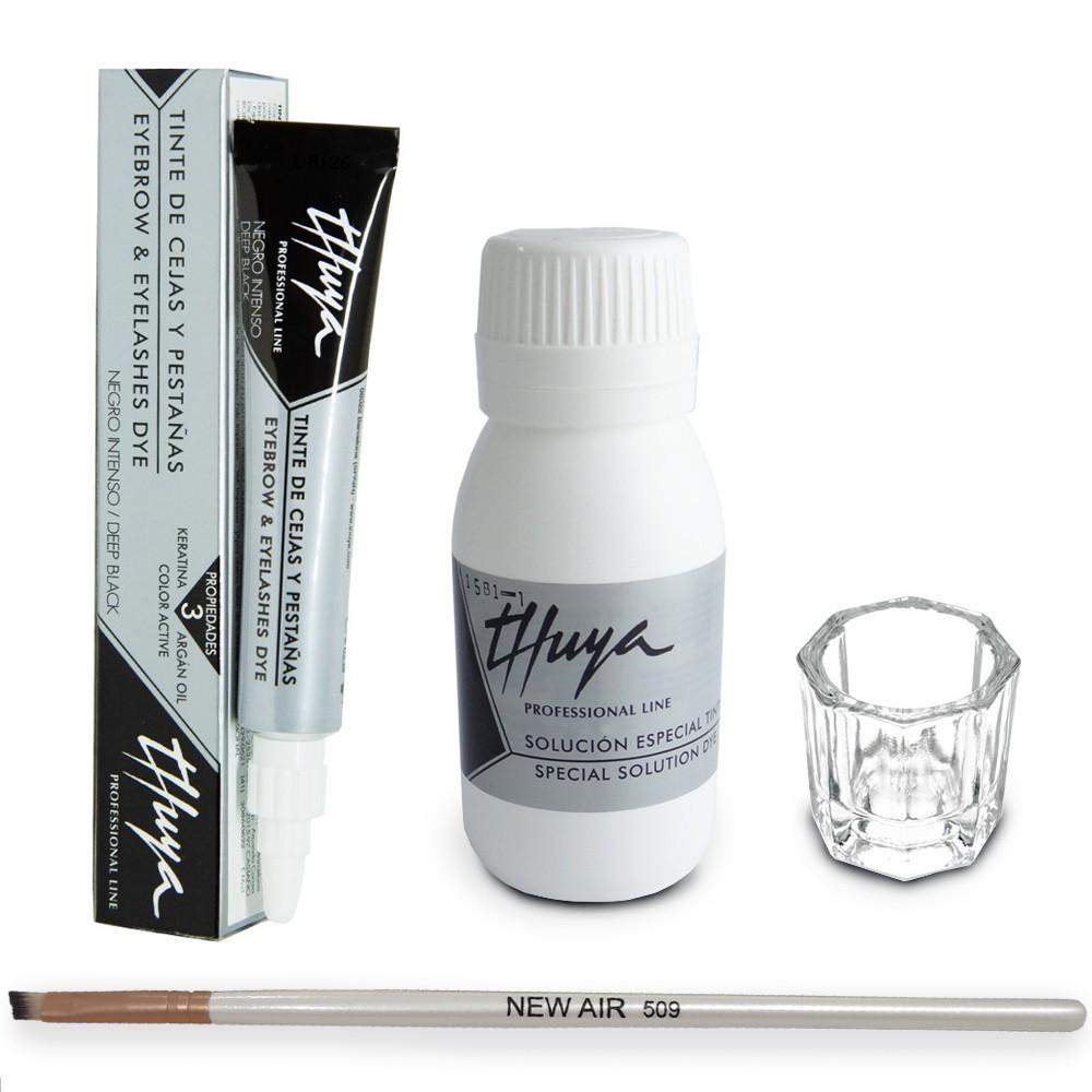 Kit Tintura Thuya Preto Intenso com Oxidante  + Dappen e Aplicador