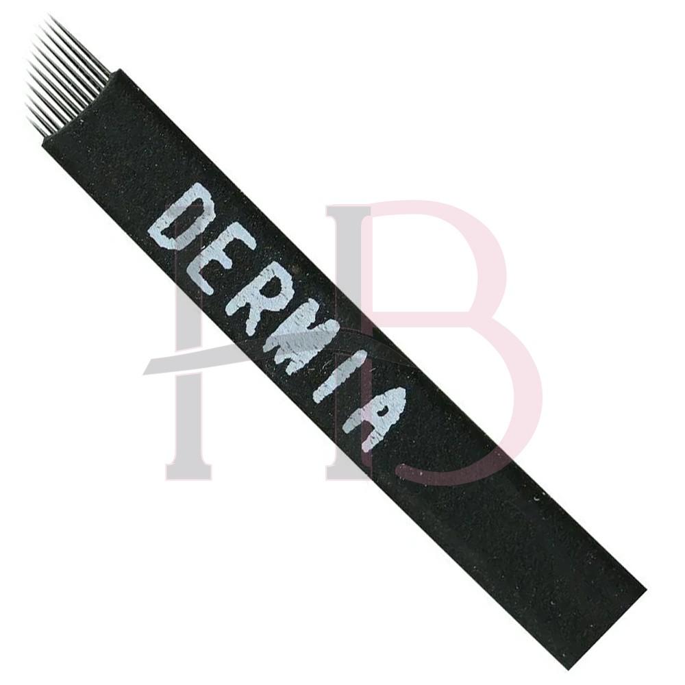 Lâmina Tebori 12 Pontas Flex Dermia 0.18mm
