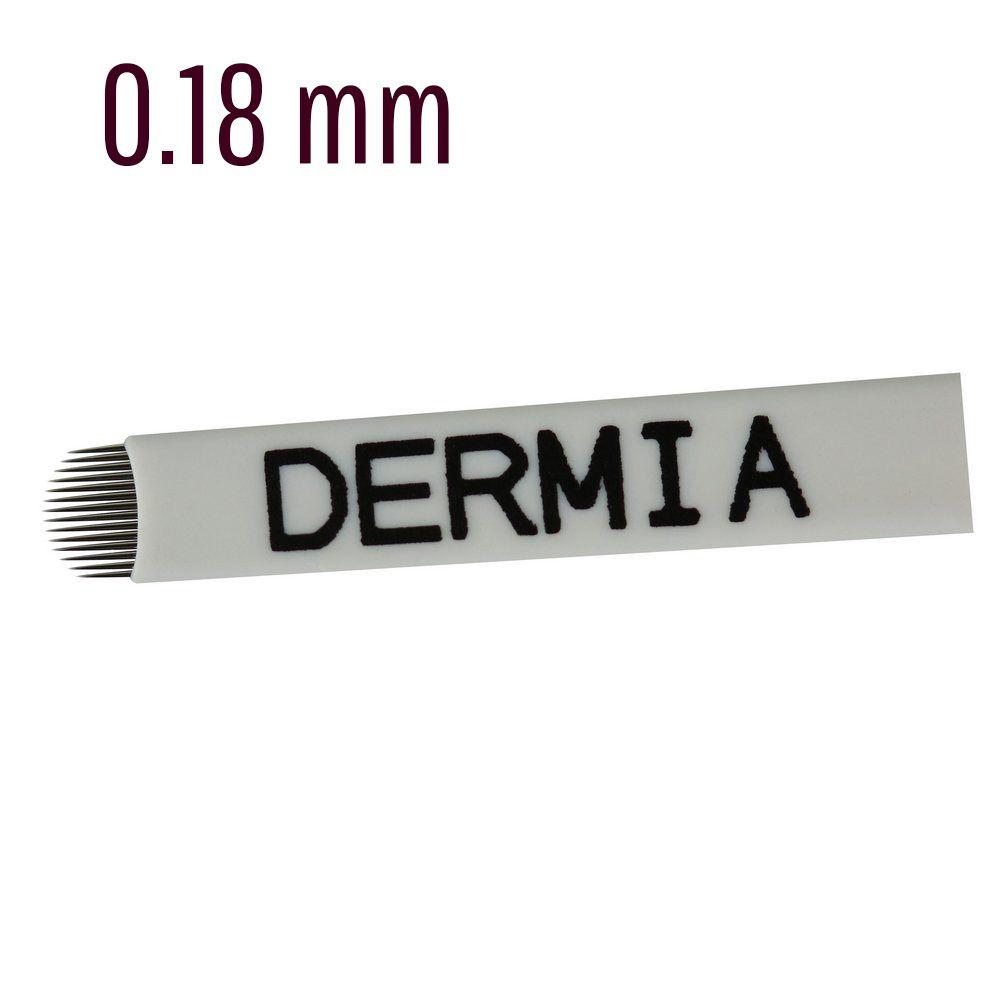 Lâmina Tebori 14 Pontas U Dermia 0.18mm
