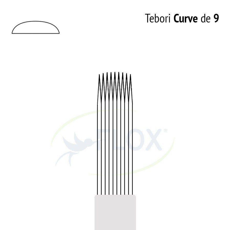 Lâmina Tebori 9 Pontas Curve  - Flox