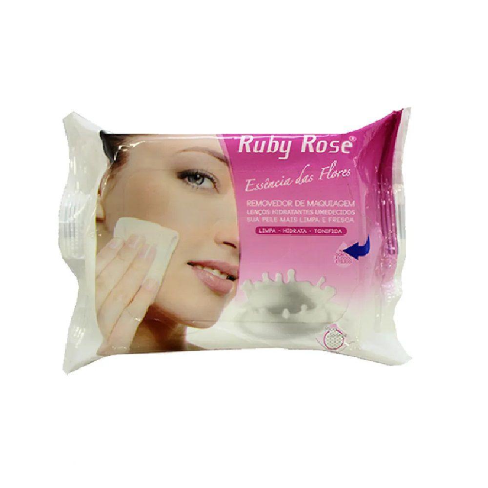 Lenço Demaquilante Umedecidos Ruby Rose