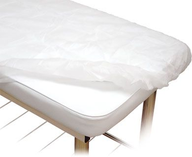 Lençol Descartável Branco Elástico G 2,50x1,10 com 10