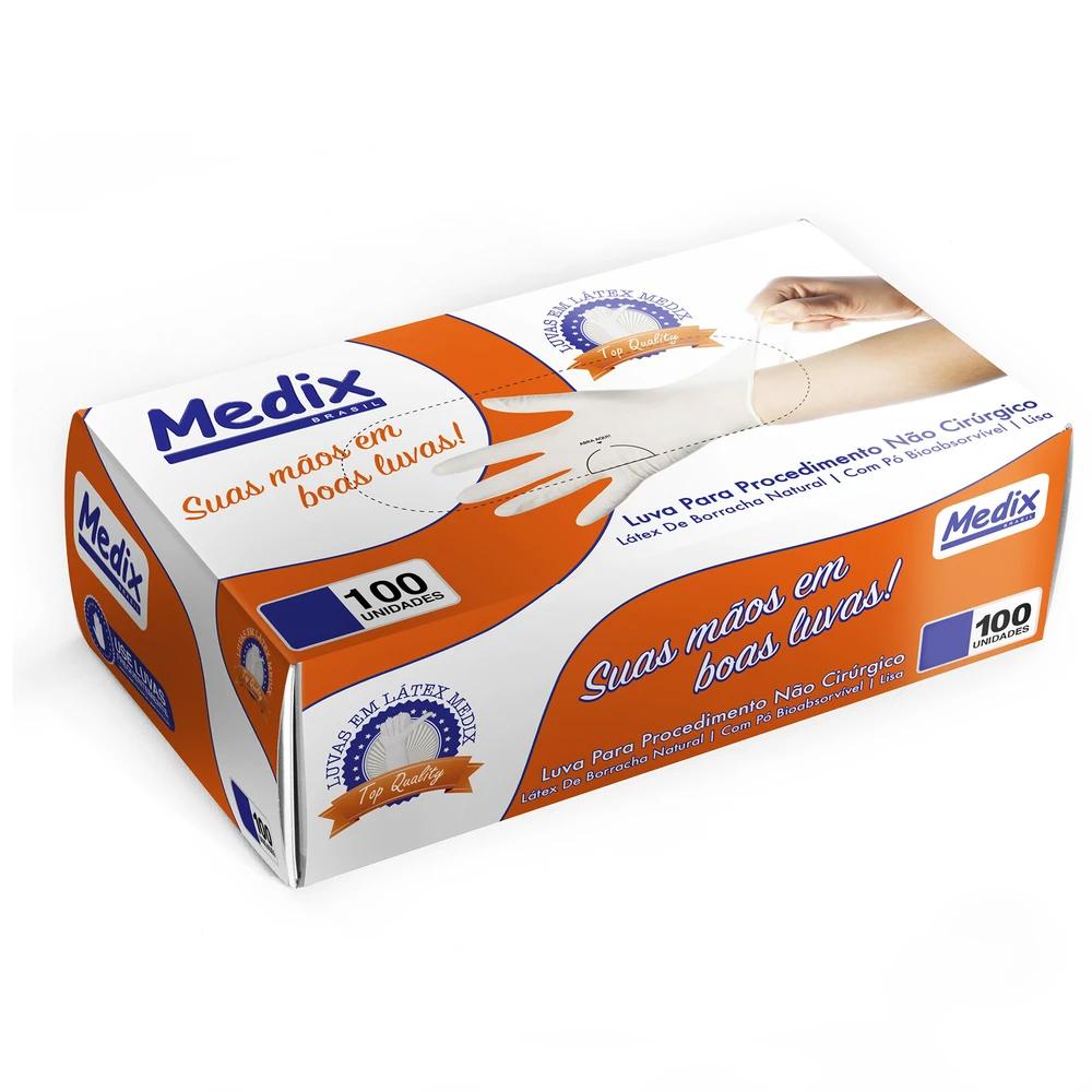 Luva Latex Medix com Pó - C/ 100