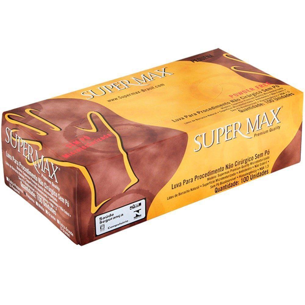 Luva Latex Supermax sem Pó com 100