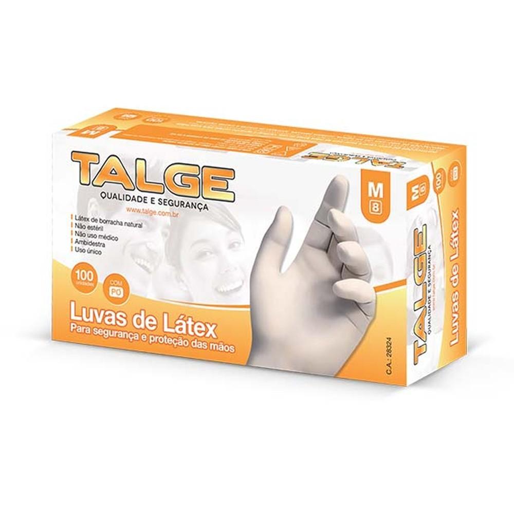 Luva Latex Talge com Pó com 100