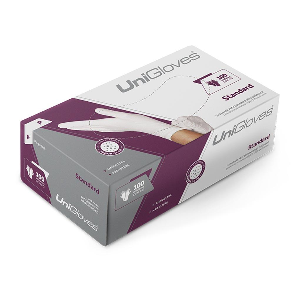 Luva Latex Unigloves Com Pó com 100