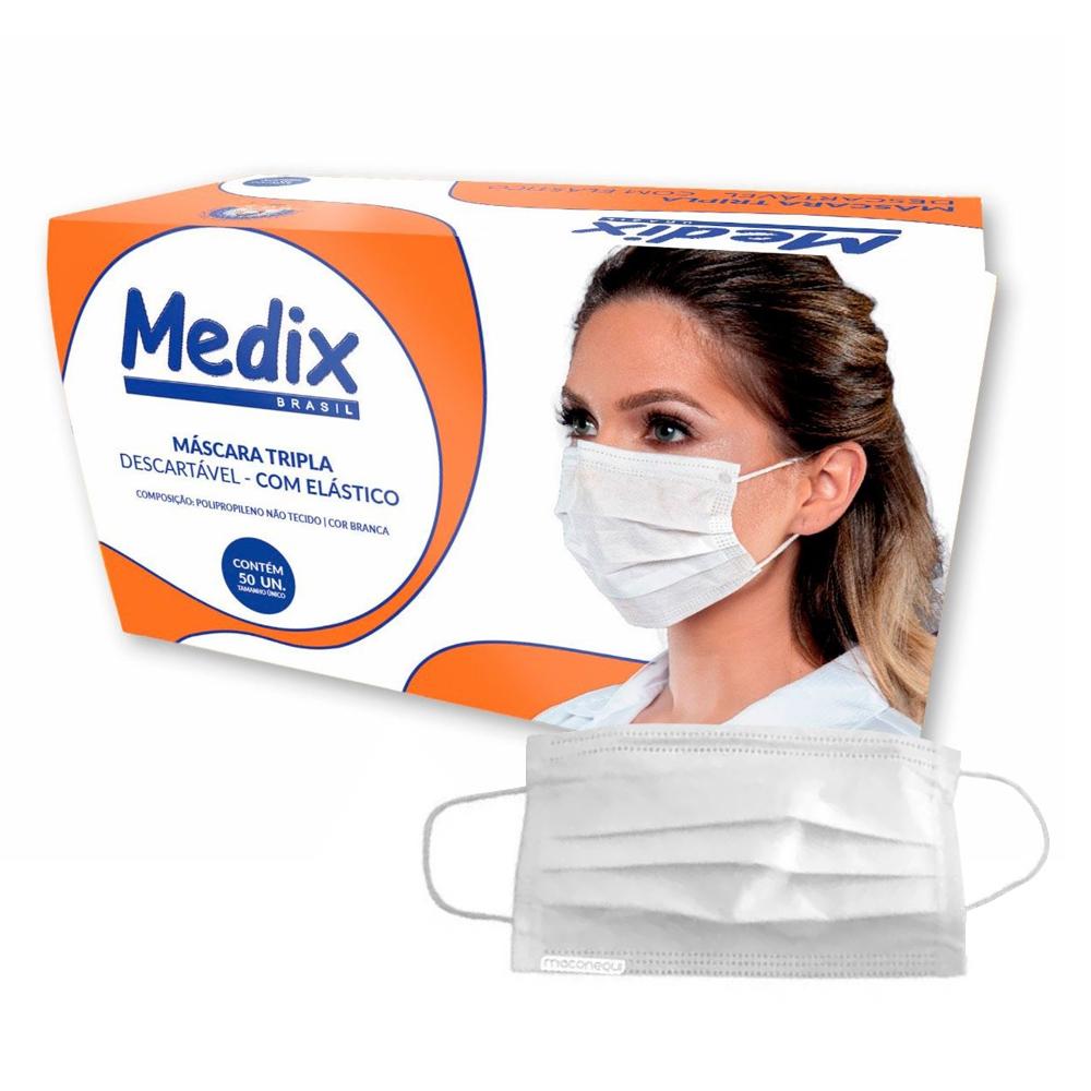 Máscara Branca Medix c/ 50