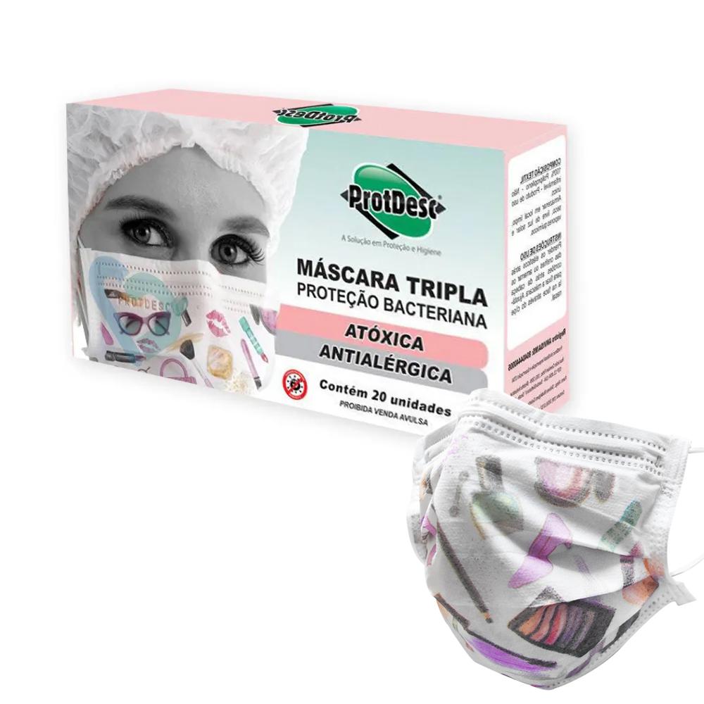 Máscara Fashion Protdesc c/ 20