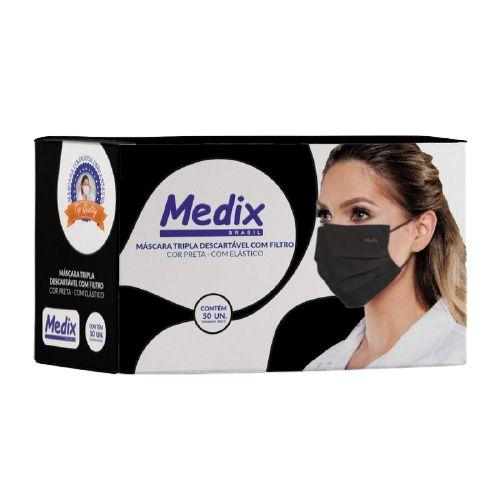 Máscara Preta Medix c/ 50