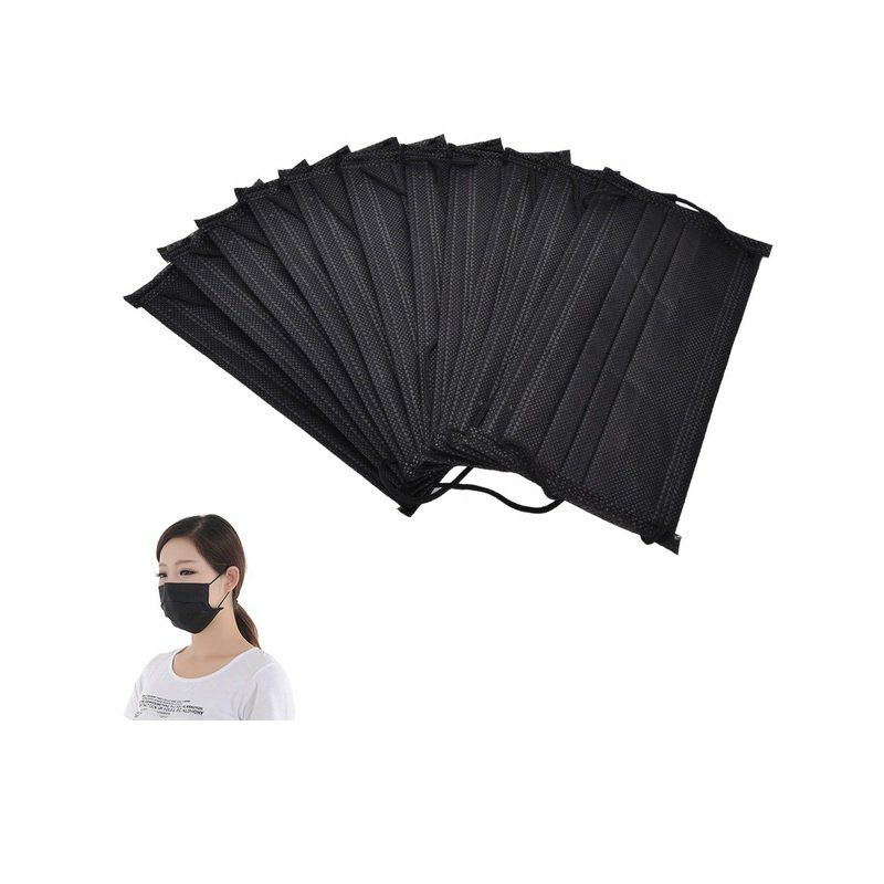 cc9ffb136 Máscara Tripla Com Elástico Black Protdesc - 50 UN