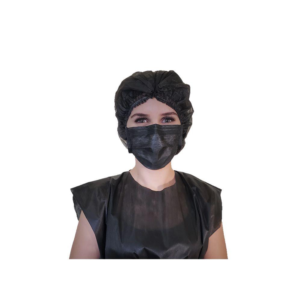 Máscara Descartável Preta Protdesc  com 50