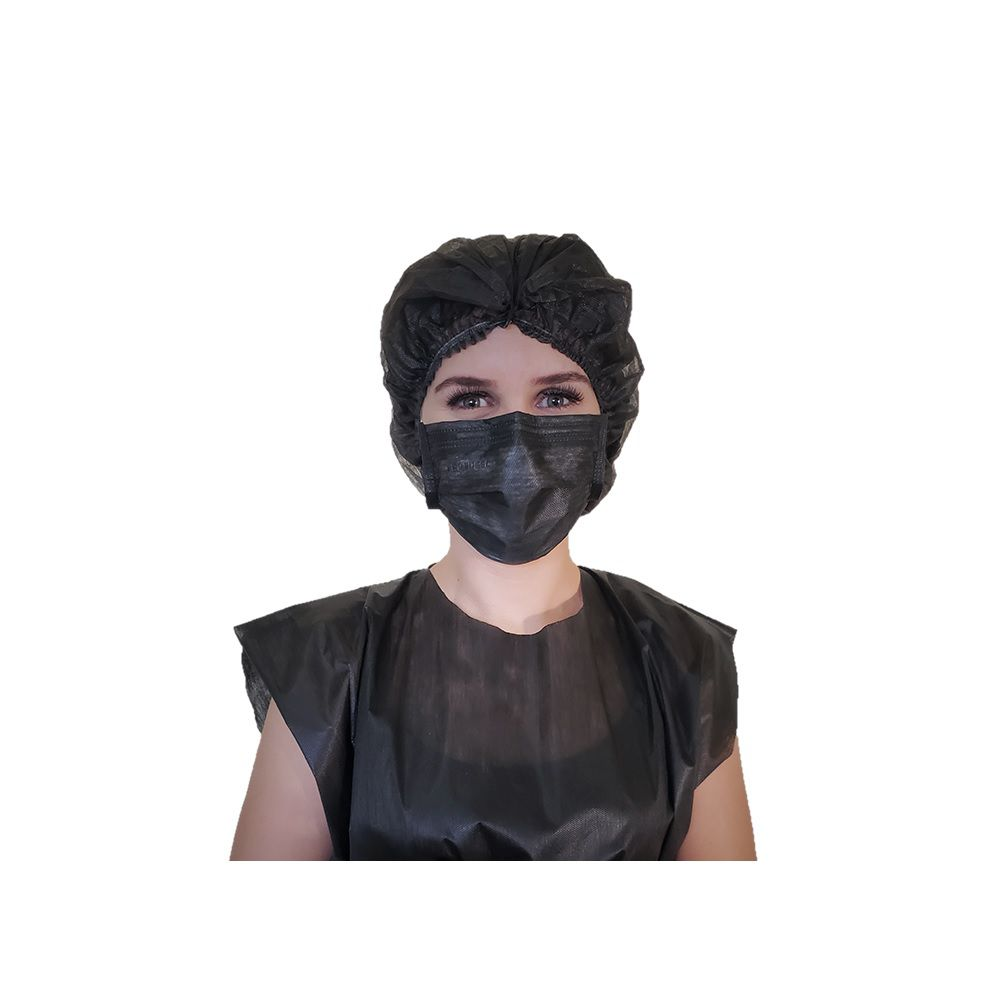 9c405455e Máscara Tripla Com Elástico Black 50 unid - Protdesc