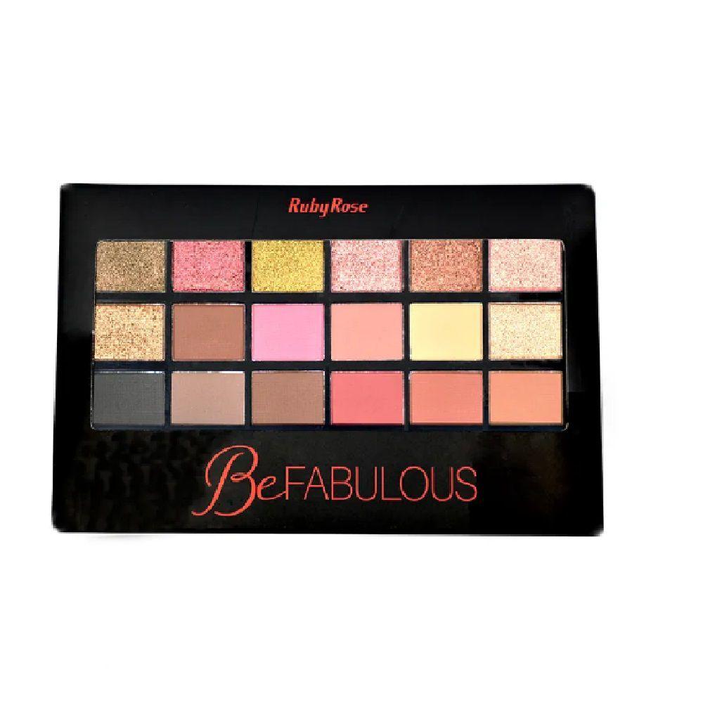Paleta de Sombra Be Fabulous18 Sombras e Primer Ruby RoseHB-9931