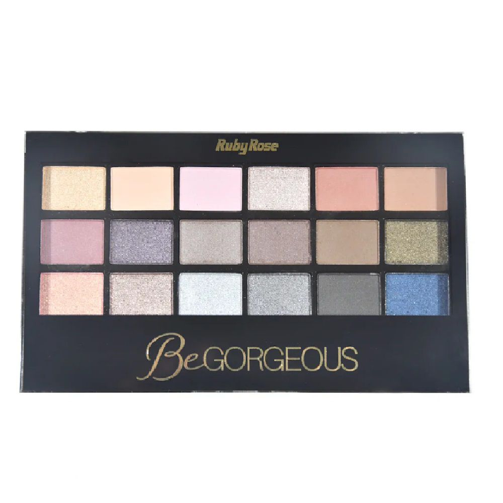 Paleta de Sombra Be Gorgeous 18 Sombras e Primer Ruby RoseHB-9916