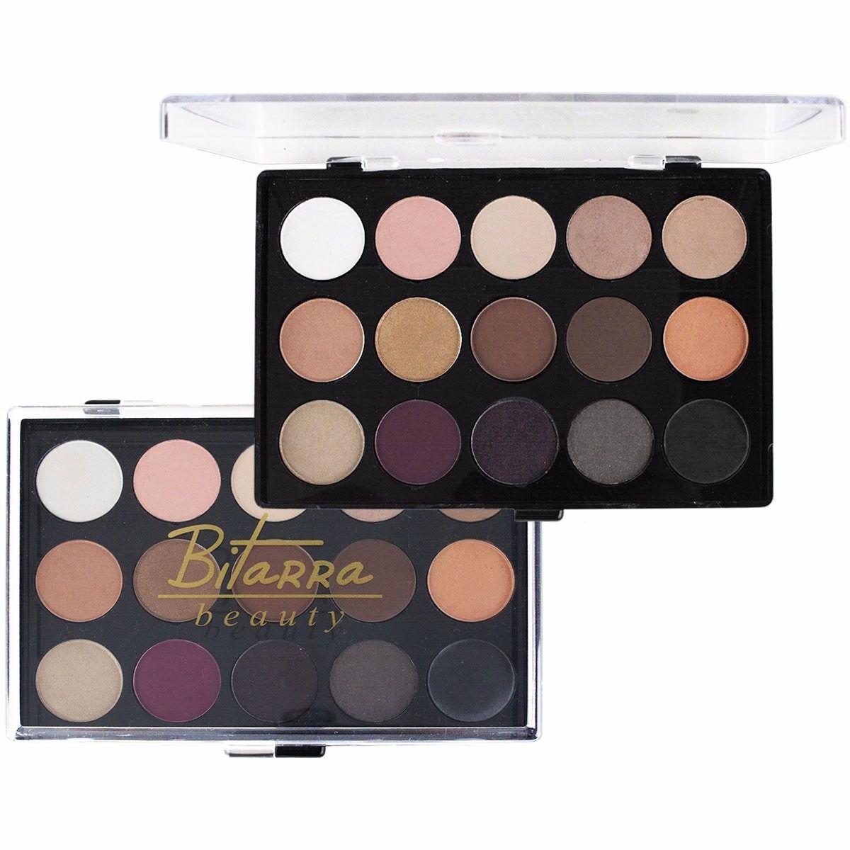 Paleta de Sombras 15 Cores C/ Roxo Bitarra Beauty