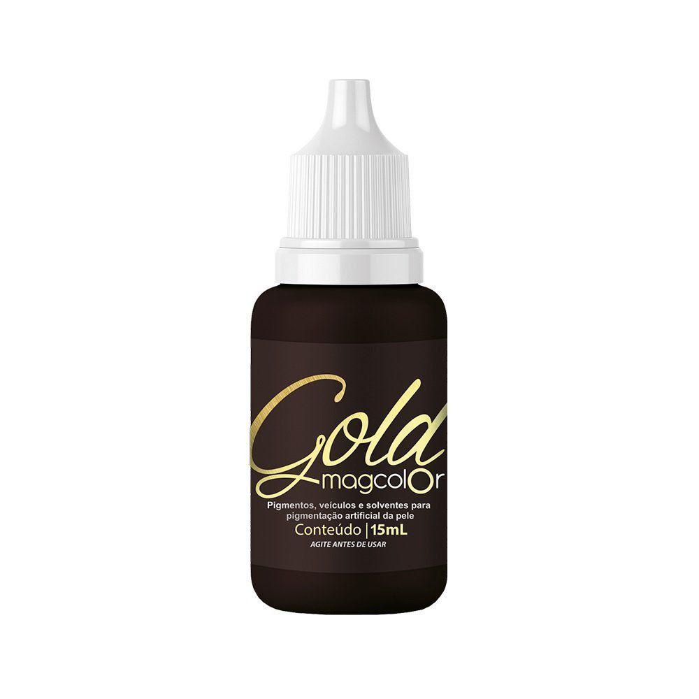 Pigmento Mag Color Gold Castanho Escuro Intenso - 15 ml