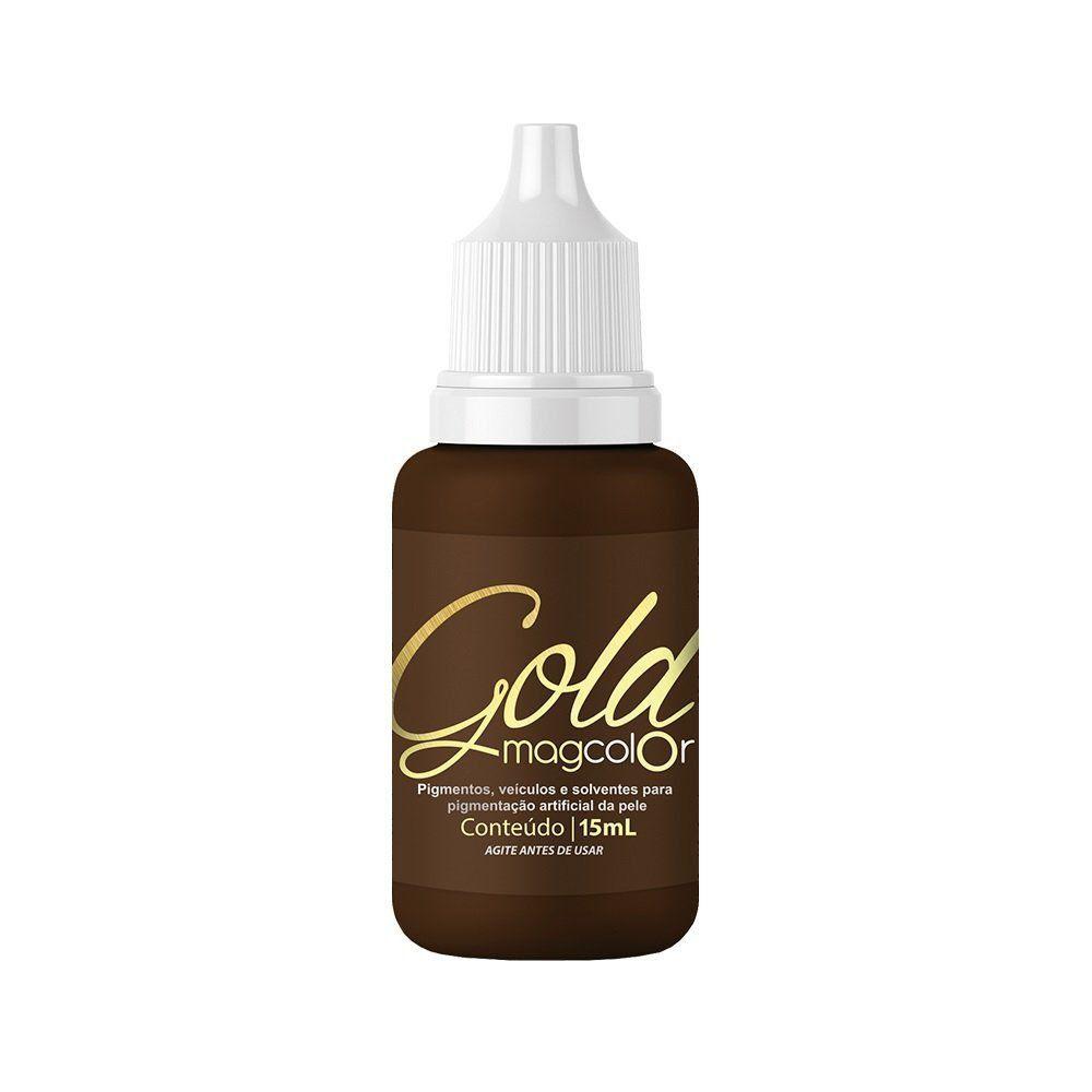 Pigmento Mag Color Gold Castanho Médio - 15 ml
