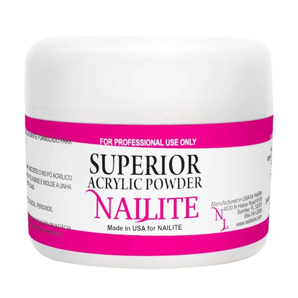 Pó Acrílico Full Coverage Pink Nailite - 15g