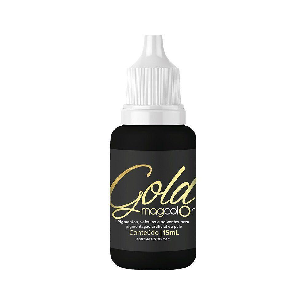 Promoção Pigmento Mag Color Gold Preto - 15 ml - Validade 07/2020