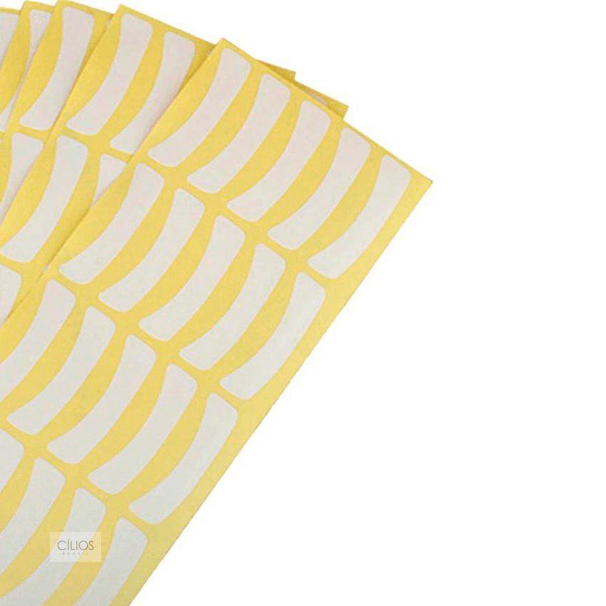 Protetor para Alongamento de Cílios de Cílios Amarelo - 50 pares