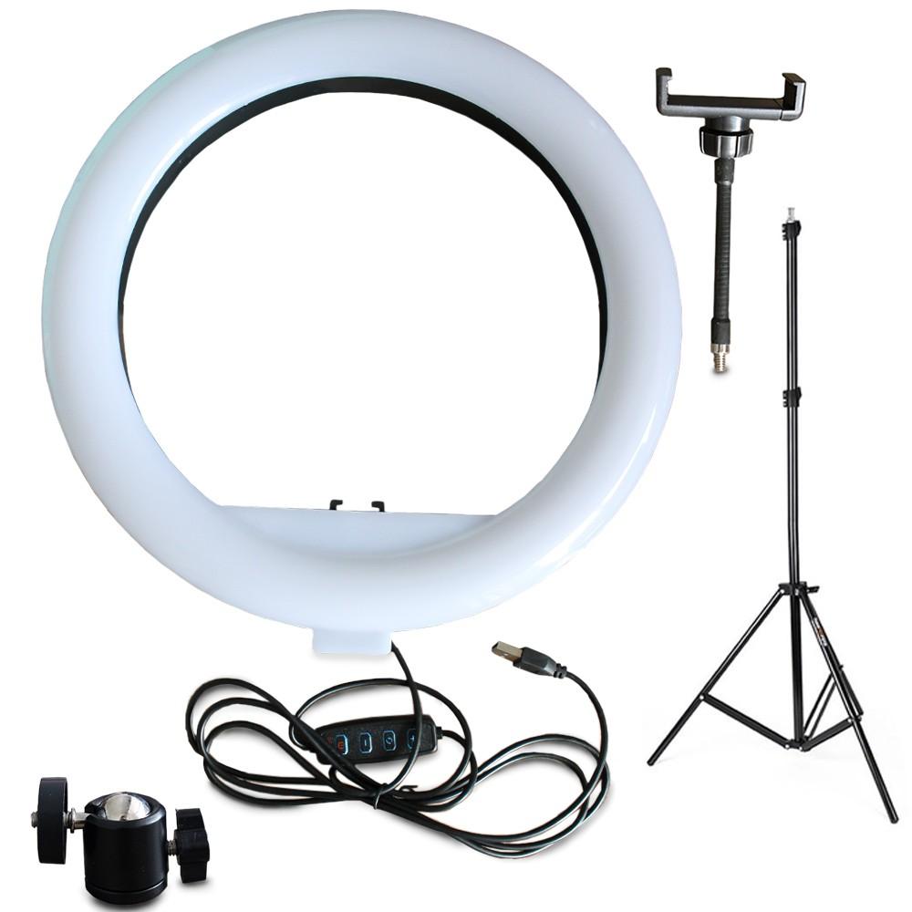 Ring Light USB - 30 cm c/ Tripé de 2 m