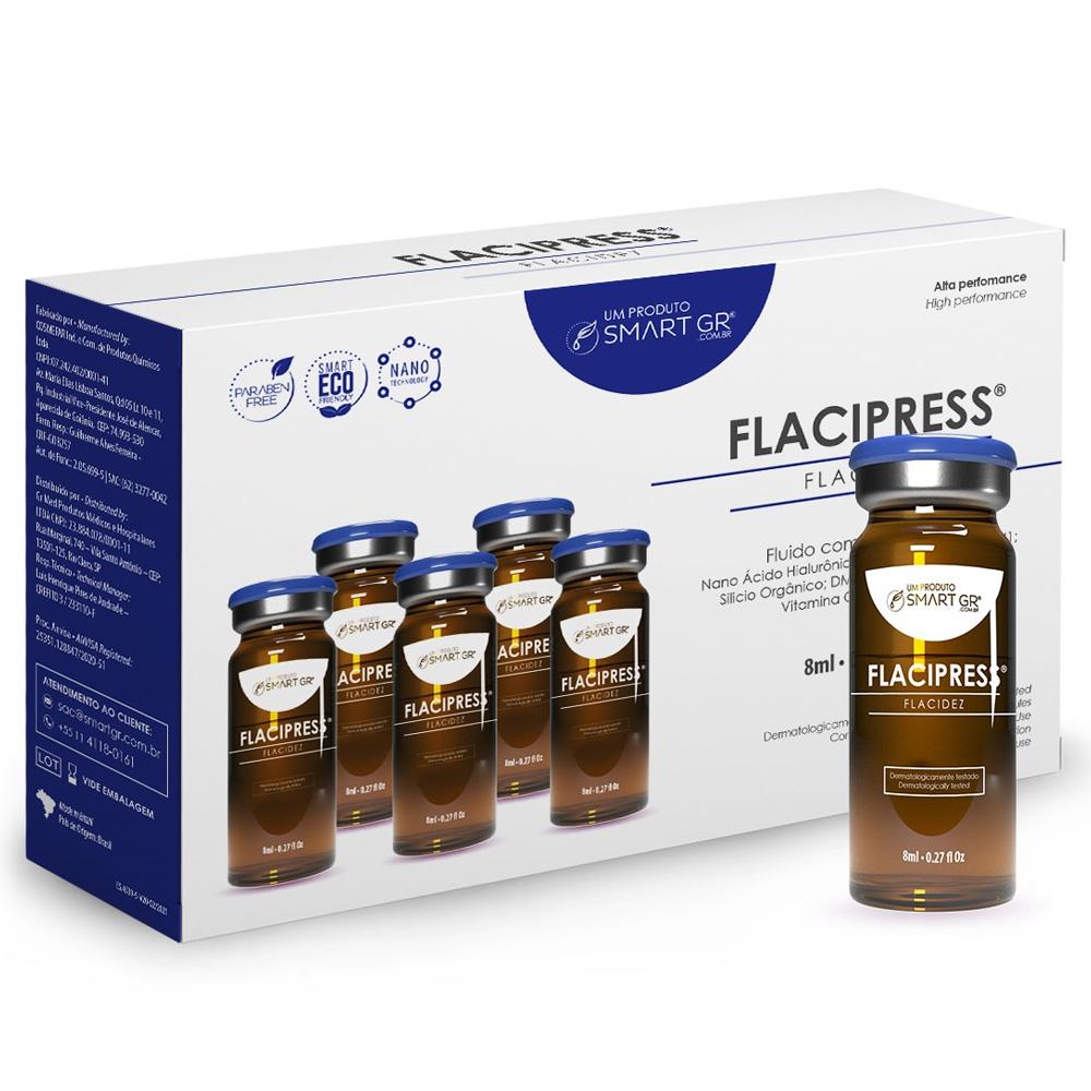 Smart Flacipress - Flacidez Cutânea 8ml - 5 Frascos